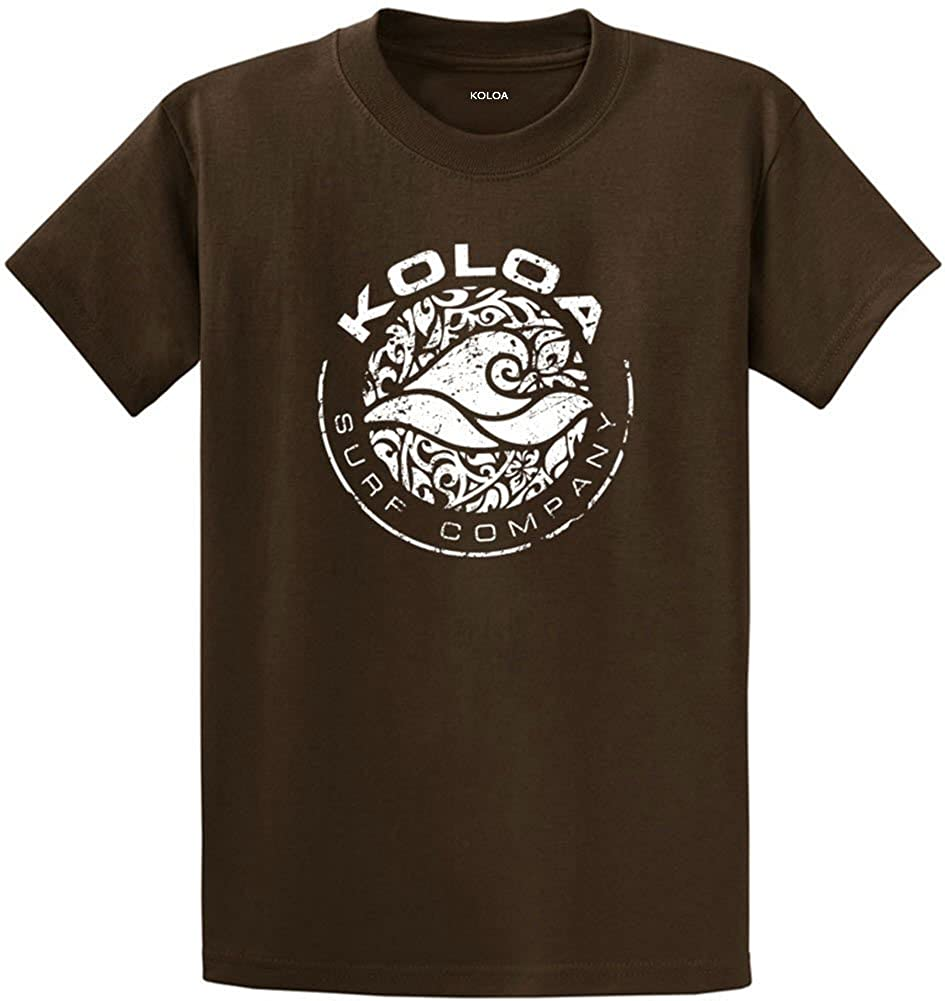 Joe's USA Koloa Surf Co. Circle Wave Logo T-Shirts in Regular, Big and Tall Sizes USALCIRC015614
