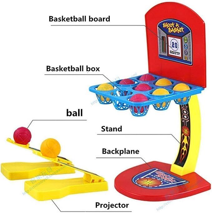 JEJA Juego de Baloncesto de Mesa Juego de Disparos con los Dedos Juego para niños Adultos Diversión Familiar: Amazon.es: Juguetes y juegos