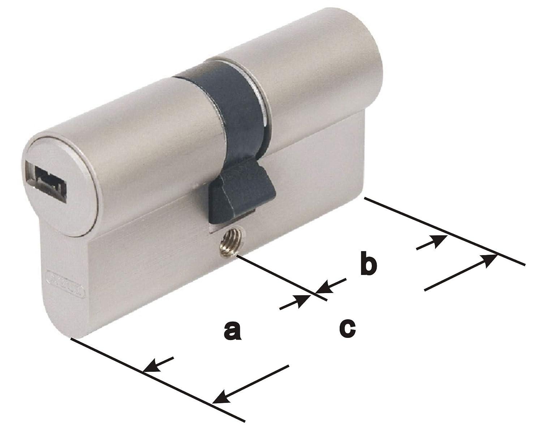 ABUS EC550 Profil-Doppelzylinder L/änge 30//60mm mit 5 Schl/üssel Zyl.-Gesamtl/änge 90mm
