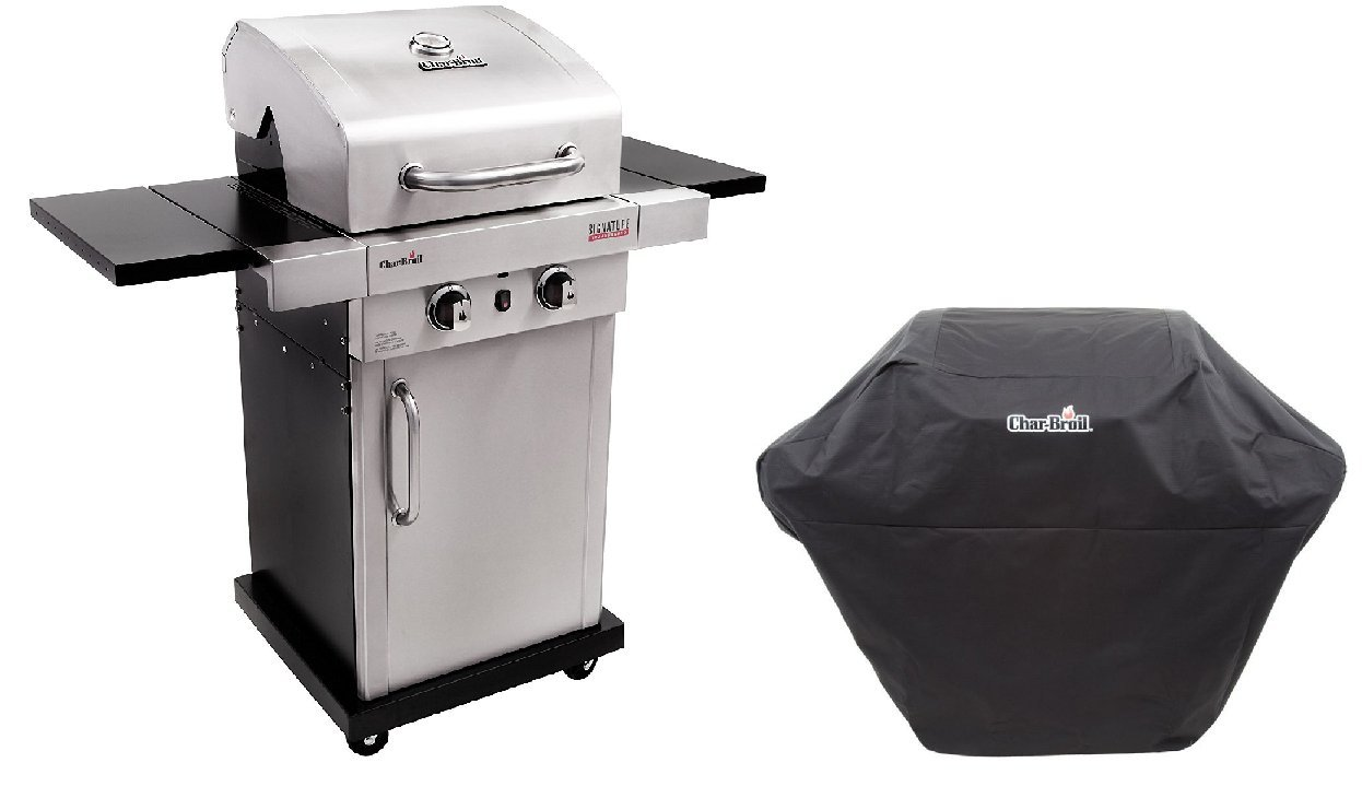 Char-Broil Signature Infrared Stainless Steel 2 Burner Gas Cabinet Grill + Cover