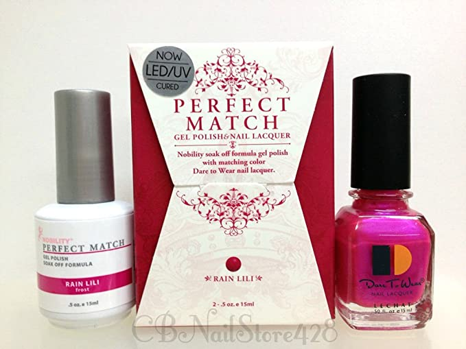 Amazon.com: LECHAT Perfect Match Gel Polish & Nail Lacquer DUO PMS02 ...