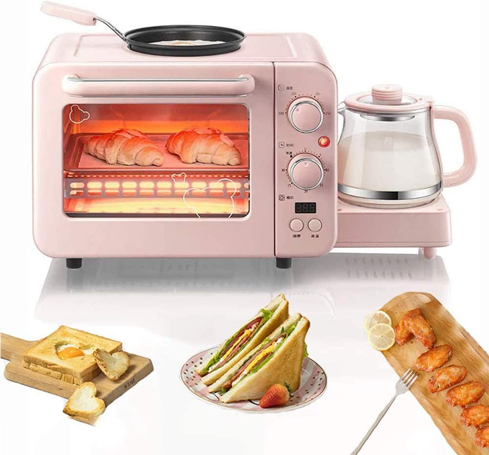 Toaster, 3-In-1 Toaster with Egg Boiler And Poachers, 2 Slice Toaster with Mini Frying Pan, Steamer, Wide Slot,Browning Control, 1400 W