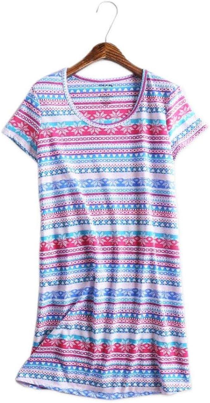 Pijamas, Vestidos De Gran Tamaño, Camisones, Algodón Sexy, Bluetw-4, XL: Amazon.es: Ropa y accesorios
