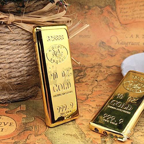 Dunhill Cigarette - New 1PC Golden Gold Plate 999 Bullion Cigarette Lighter Flame Refillable Butane Gas