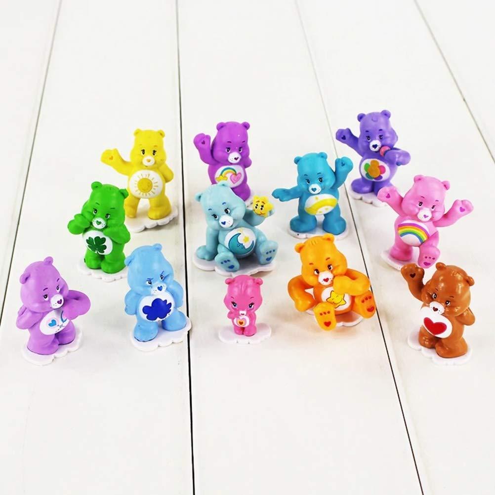12Pcs/Lot Kawaii Figure Toy Care Bears Best Kid Toys Animal Model Dolls for Boys and Girls Gift mrGood