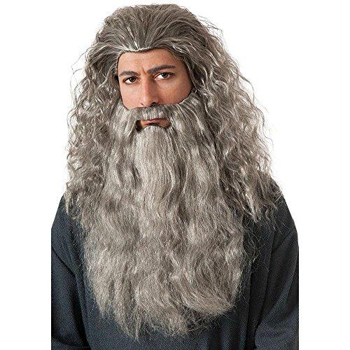 Warner Bros. Men's The Hobbit: An Unexpected Journey Gandalf Wig and Beard Costume (Hobbit Wig)