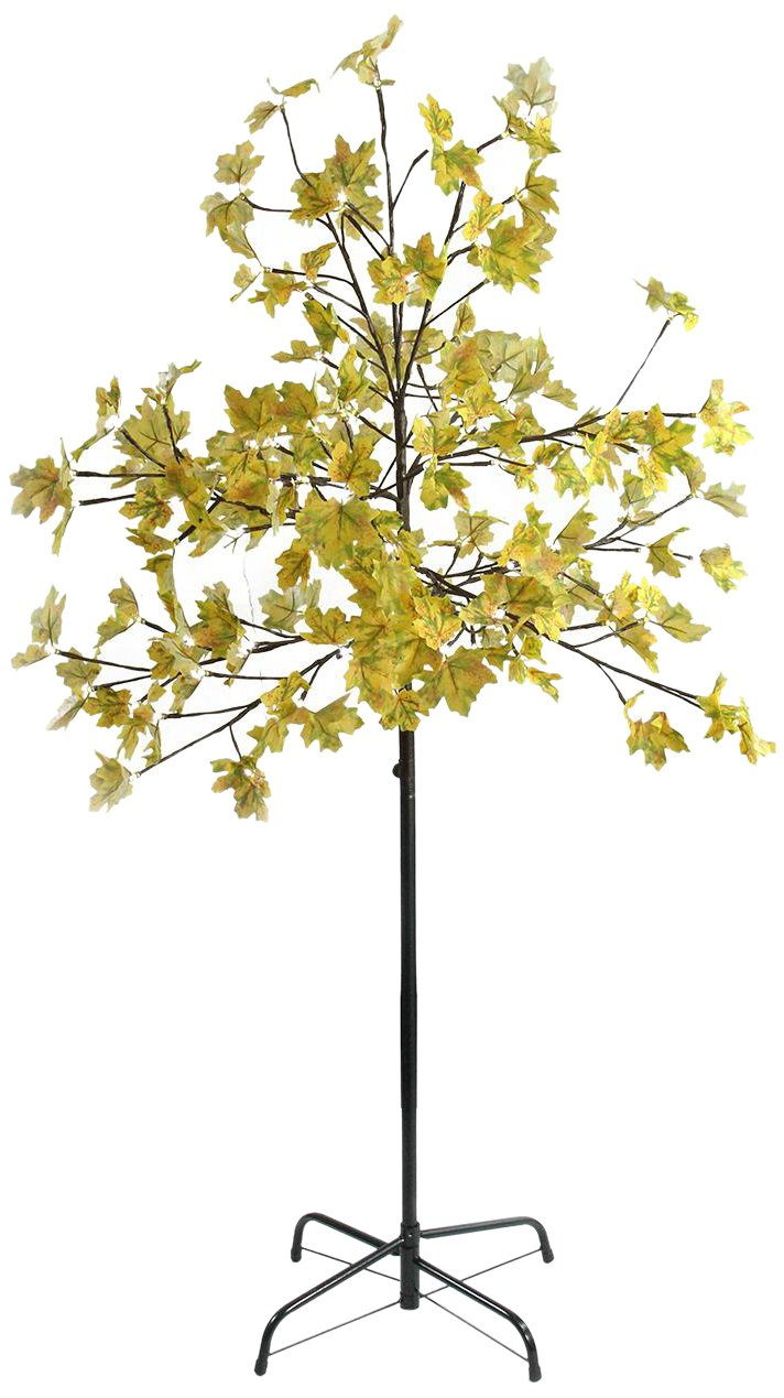 Northlight 5' LED Lighted Artificial Fall Harvest Yellow Maple Leaf Tree - White Lights Northlight Seasonal NORTHLIGHT A85659