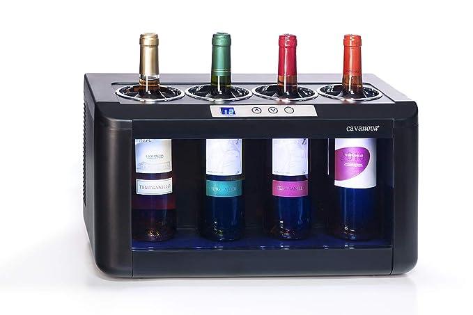Cavanova OW004 - Enfriador de vino - 4 botellas , Temperatura 5-18 ...