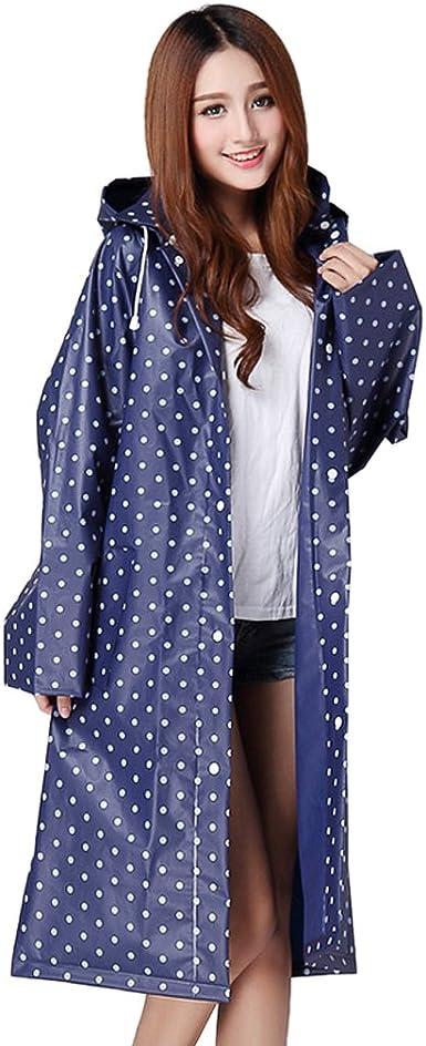 DeFacto Girls Polka Dot Printed Hooded Raincoat
