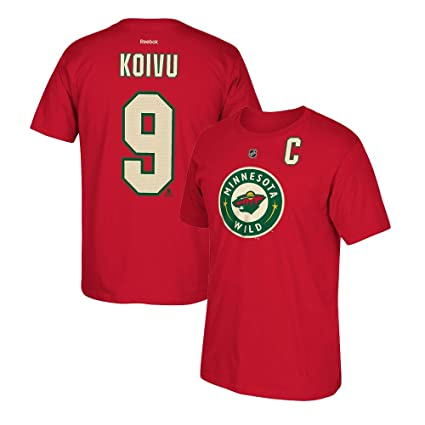 716ea480d82 Image Unavailable. Image not available for. Color  adidas Mikko Koivu  Reebok Minnesota Wild Player Premier N N Red Jersey T-Shirt Men s