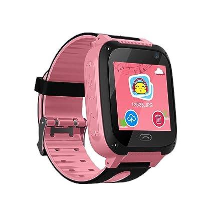 TDH Niños Inteligente Relojes, LBS Kids SmartWatch con Camara, Flash luz, SOS, nocturna pantalla táctil, Reloj Inteligente Anti - Lost Smart tracker ...