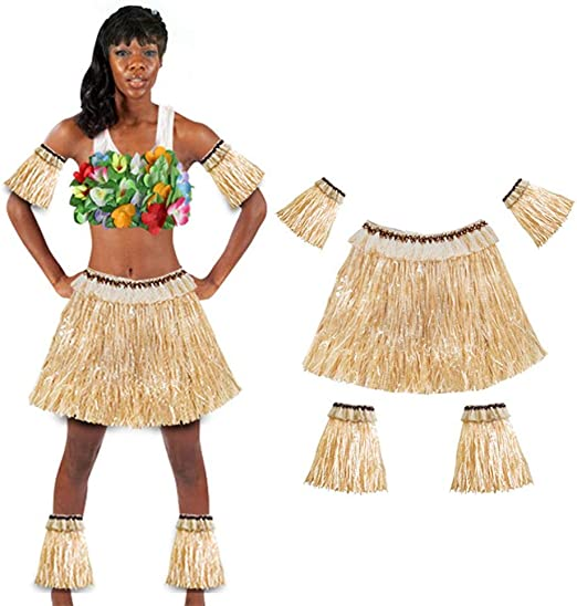 Seasaleshop Hawaiian Hula Dancer Disfraz de Falda de Hierba para ...