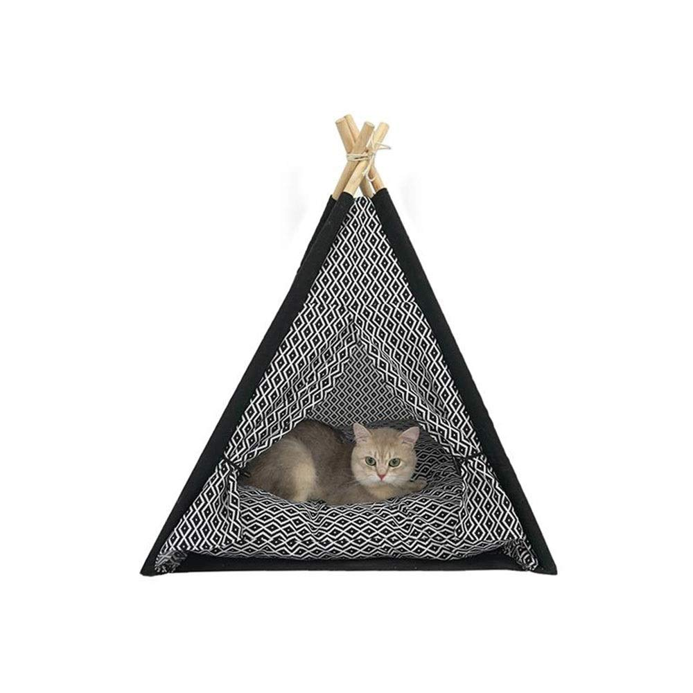 MISLD Indian Tent Pet Tent Dog Bed Pet Teepee Cat Bed Warm Pet Houses Portable Pet Teepee with Pillow for Cats and Dogs by MISLD