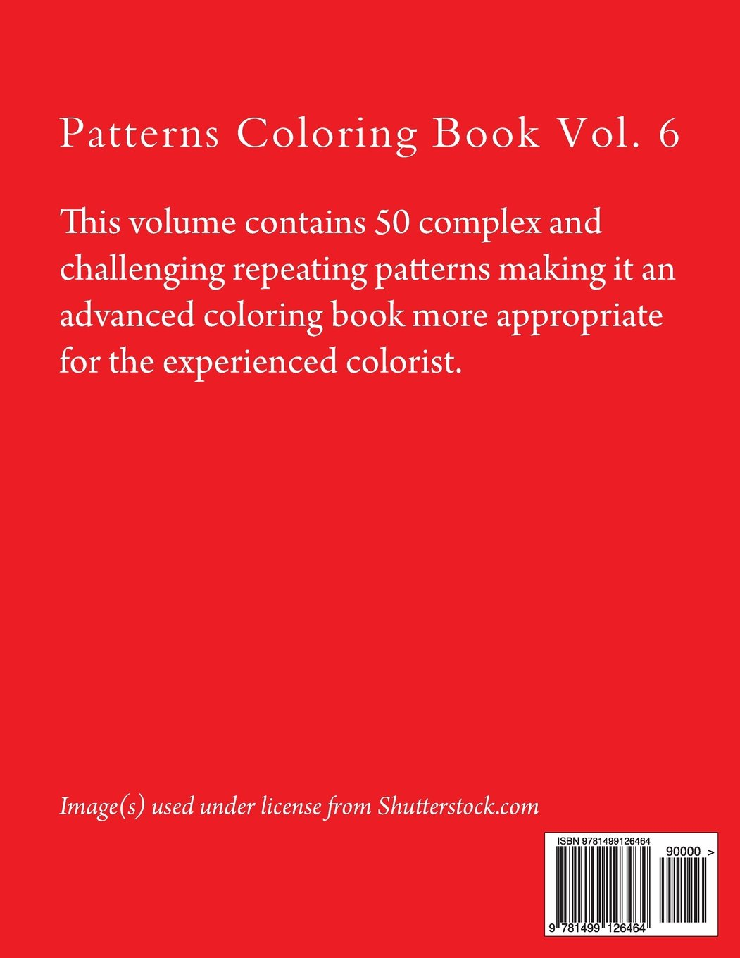 Patterns Coloring Book Vol 6 Advanced Repeating Patterns Marti