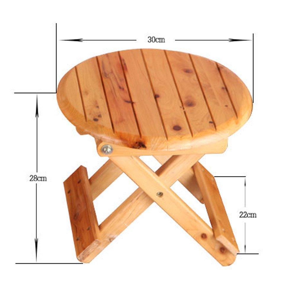 Folding Stool, Folding Small Bench, Solid Wood Stool, Non-plastic Stool, Fishing Stool, Children's Stool by PM-Folding Stools (Image #2)