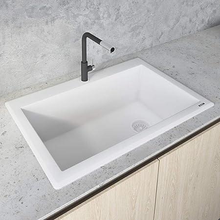 Ruvati 33 X 22 Inch Dual Mount Granite Composite Single Bowl