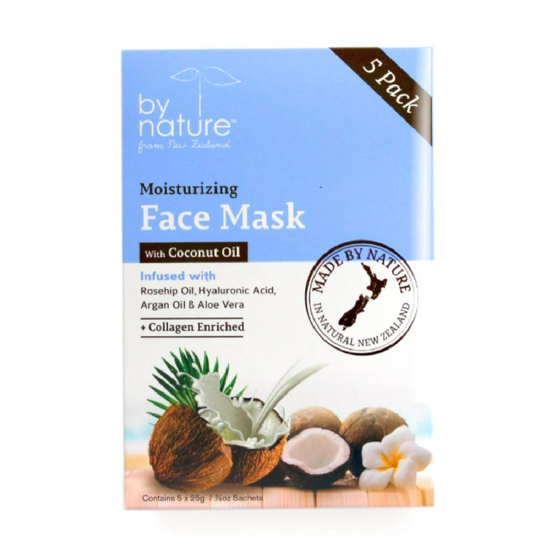 By Nature From New Zealand Moisturizing Coconut Face Mask (5) Pack