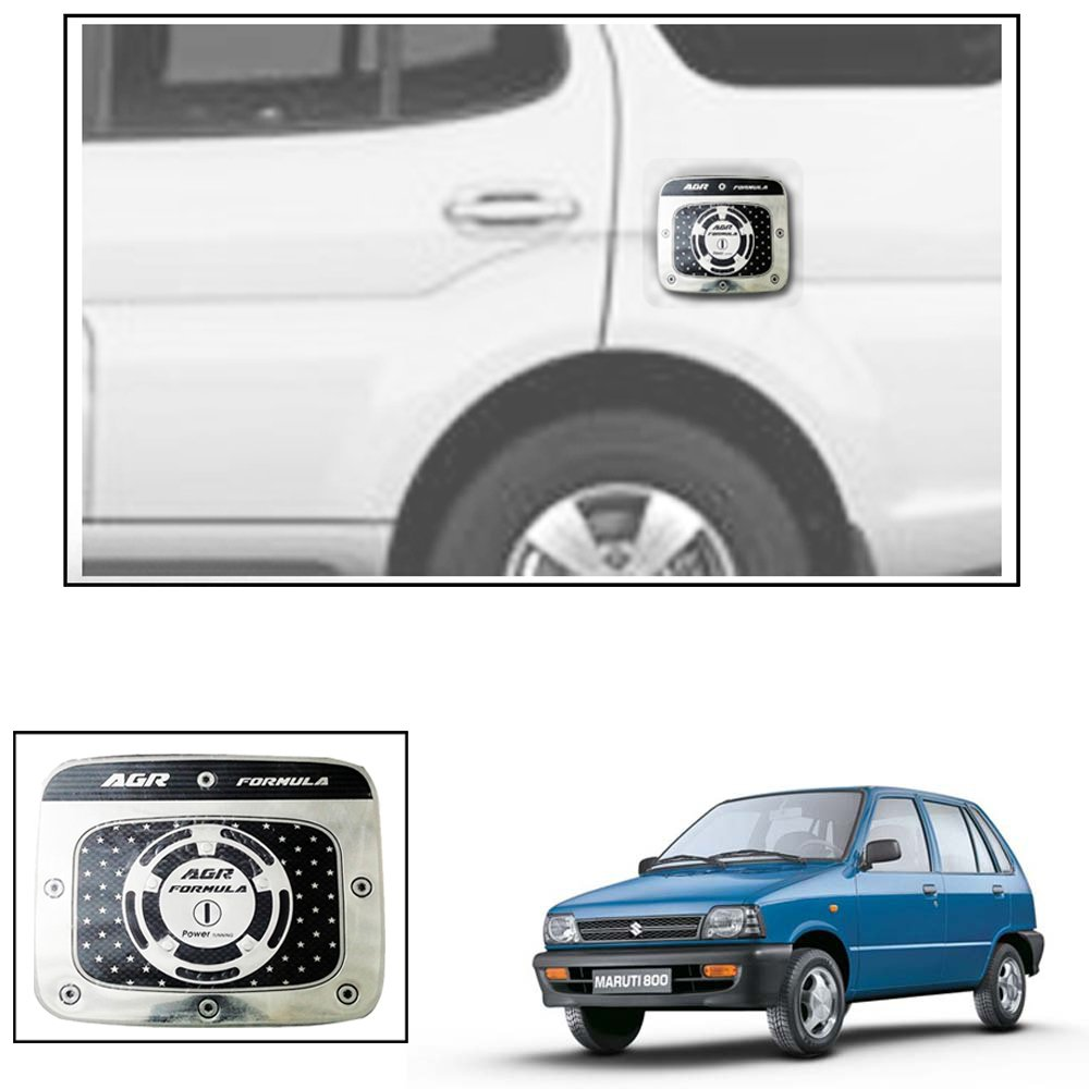 Vheelocityin metal finish chrome design square car petrol tank sticker for maruti suzuki alto800 amazon in car motorbike