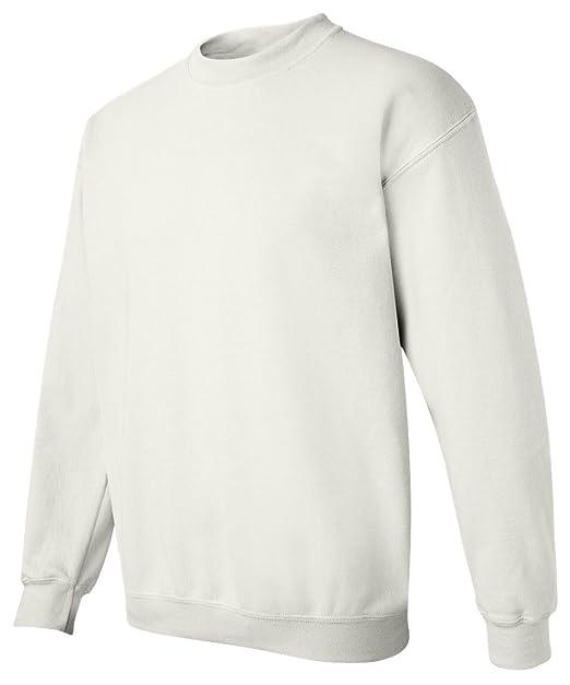 2765c546e Gildan Men's Heavy Blend Crewneck Waistband Sweatshirt, White