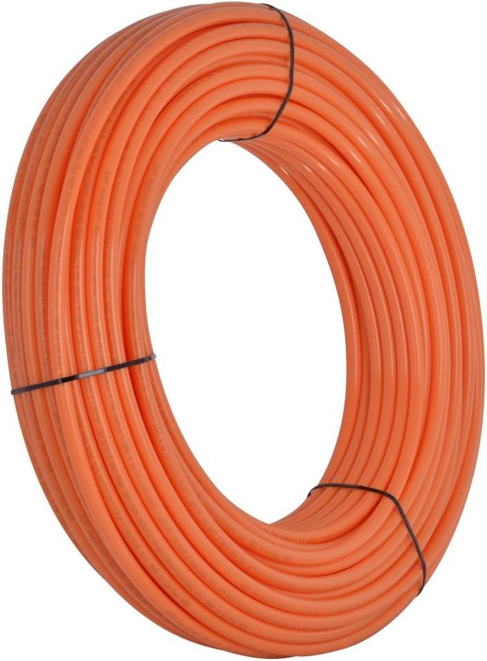 SharkBite U860O300 Oxygen Barrier PEX Pipe 1/2 Inch, Orange Heat Radi, 300 foot coil
