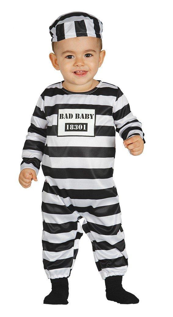 Fiestas Guirca Costume da carcerato Beb/è