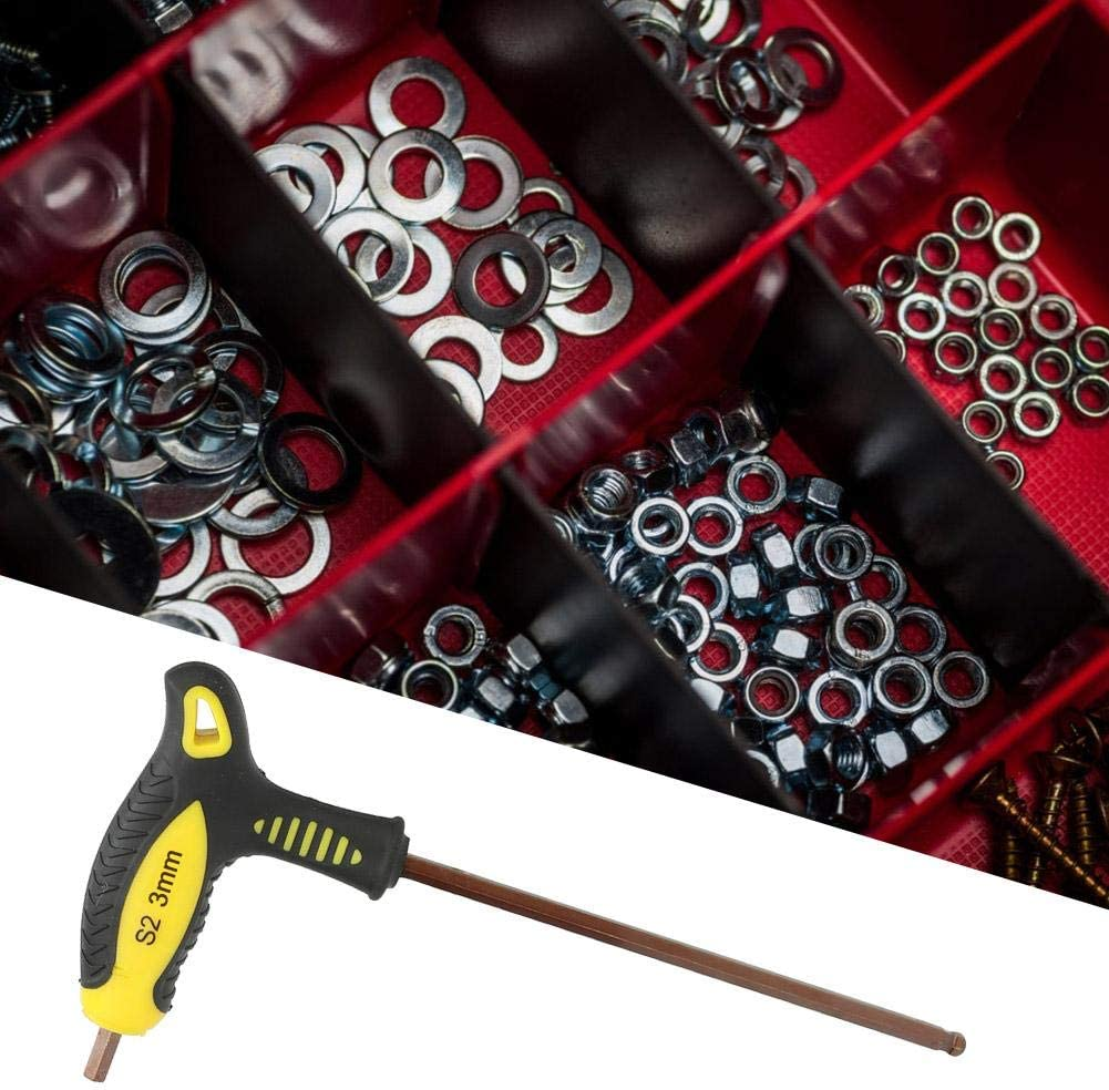 Ball Head T Shape Long Handle Hex Key Wrench Professional Repairing Hand Tool Naroote Hex Key Wrench 3mm