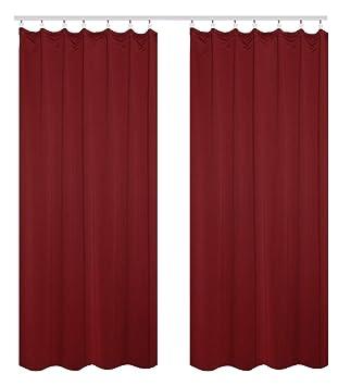 WOLTU #489 2, 2er Set Gardinen Vorhang Blickdicht Mit Kräuselband Für  Schiene,