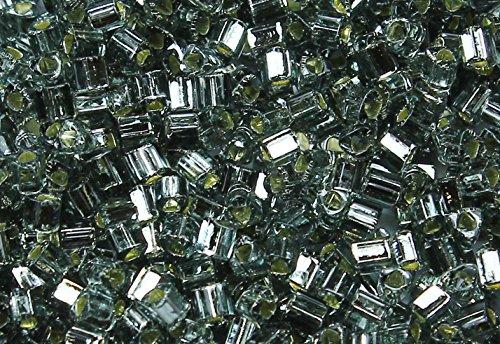 11/0 Triangle TOHO Japanese Glass Seed Beads # 29B-Silver-Lined Gray 15g
