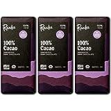 Raaka Chocolate 100% Cacao, Sugar-Free | Gourmet Bean-to-Bar Dark Chocolate | Organic, Kosher, Vegan, Gluten-Free…
