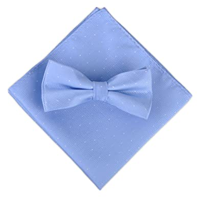 ciciTree Hombres Polka Dot Bowtie Corbata Bolso Cuadrado Azul ...