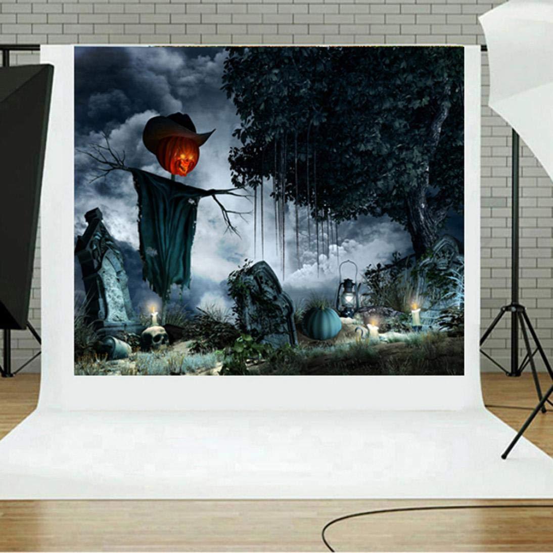 Waymine ハロウィン 背景幕 パンプキン ビニール 3x5フィート 暖炉 写真 黒板背景 子供のパーティー写真スタジオ小道具 ブラック Way32467  E B07GJKZ5QB