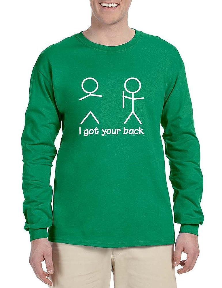 Allntrends Mens Long Sleeve I Got Your Back Cool Sarcasm Shirt