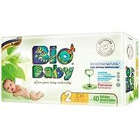 Bio Baby, Unisex, Talla Chica, 160 Pañales (La imagen del empaque puede variar)
