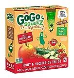 #3: GoGo SqueeZ Fruit & VeggieZ on the Go, Apple Zucchini Strawberry, 3.2 Ounce Portable BPA-Free Pouches, Gluten-Free, 48 Total Pouches (12 Boxes with 4 Pouches Each)