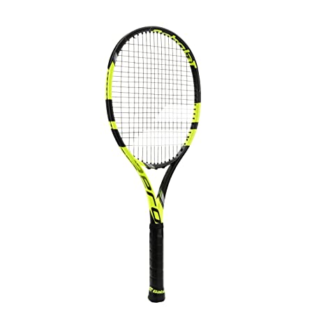Amazon.com : Babolat Pure Aero VS Yellow/Black Tennis Racquet Strung with Custom Racket String Colors (Rafael Nadals Racket) : Sports & Outdoors