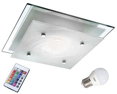WOFI Decken Lampe RGB LED Strahler Dimmbar Wand Leuchte Drehbar FERNBEDIENUNG