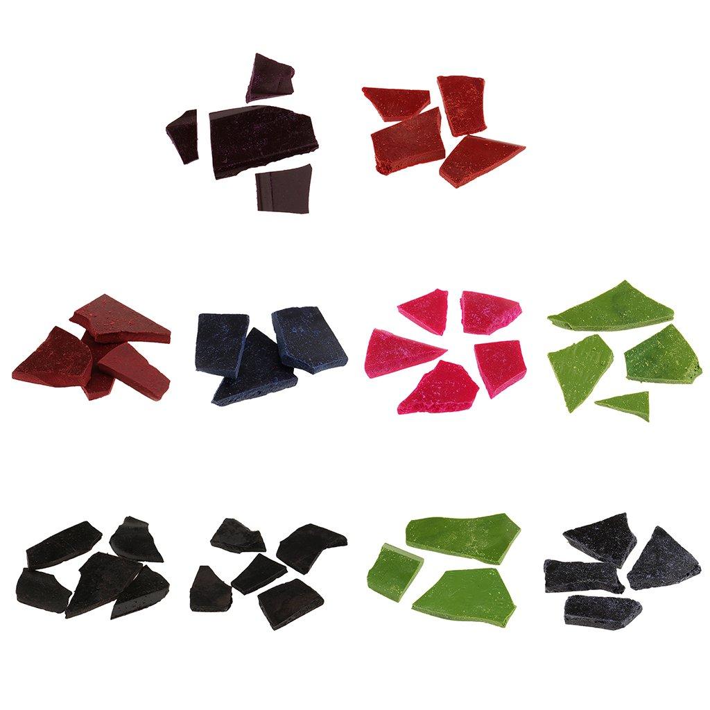 Sharplace 10 Pack 5g De Colorant De Puces De Colorant De Cire De Cire De Bougie pour La Bricolage Bougie Faisant La Coloration