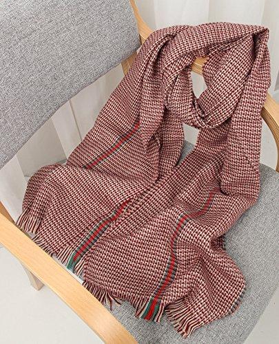 Claret SED ScarfWoman Winter Scarf Thick Warm Knit Scarf Long Scarf Shawl AllMatch