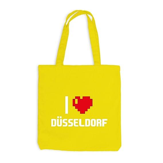 Sac De Jute I Love Düsseldorf Allemagne Voyage Cœur