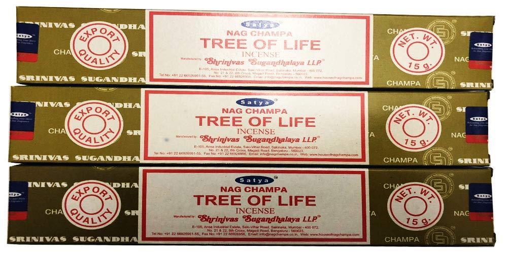 新着 Satya パックof Nag Champa – Tree Tree of Life Incense of Sticks – パックof 3 ( 15グラム各) B07C45NGDK, バッグ 財布 雑貨 Fashion-Amika:f664f7ed --- arianechie.dominiotemporario.com