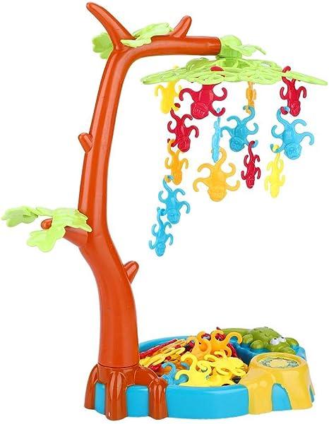 Alomejor Playthings Monkeying Around Monkeys Tree Leaf Balancing Table Game Children Kids Toy
