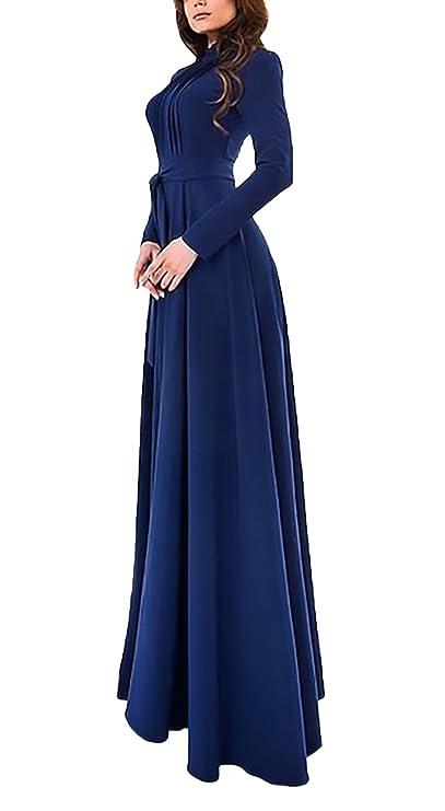 Vestidos largos de manga larga casual