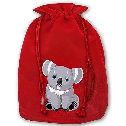 Christmas Gift Bags Australia.Amazon Com Unique Drawstring Santa Sack Red Cute Australia