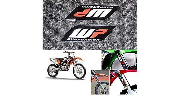 2 Unids//Set Motocicleta Pegatinas para WP Suspensi/ón Moto Horquillas Calcoman/ías Pegatinas Conjunto Gr/áfico Logotipo Adhesivo Kit