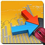 100 chart mat - Liili Suqare Mousepad 8x8 Inch Mouse Pads/Mat Financial and business chart and graphs IMAGE ID 19158704