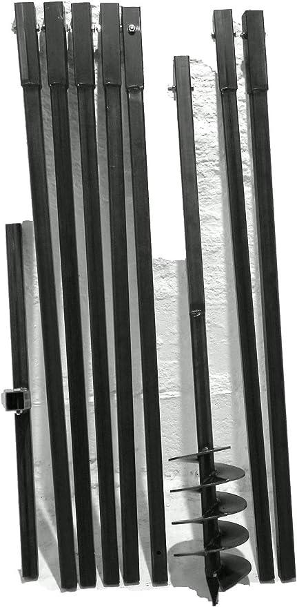 4 Stufen Treppenrahmen Stahl-Treppenwange Treppenholm Geschosshöhe 72cm Weiss