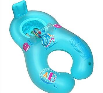 LOTONJT Flotador con Madre Baby Piscina Flotador,Flotador para Bebé con Asiento, Bebé Inflable