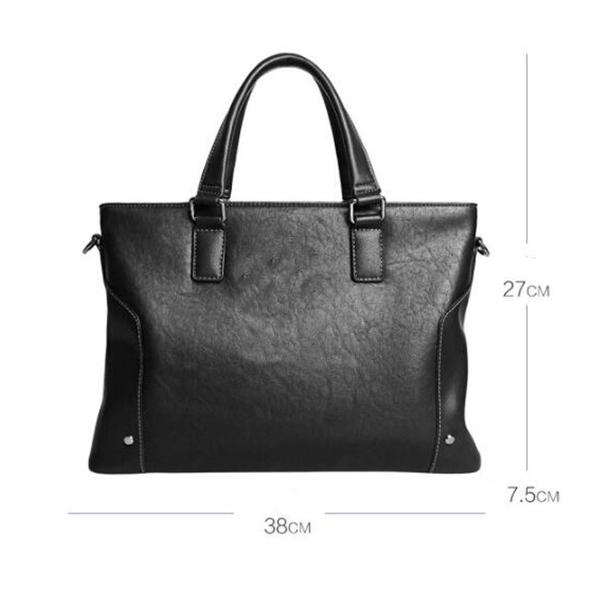 Briefcase 387.527cm Black Size Mens Business Casual Large-capacity Handbag