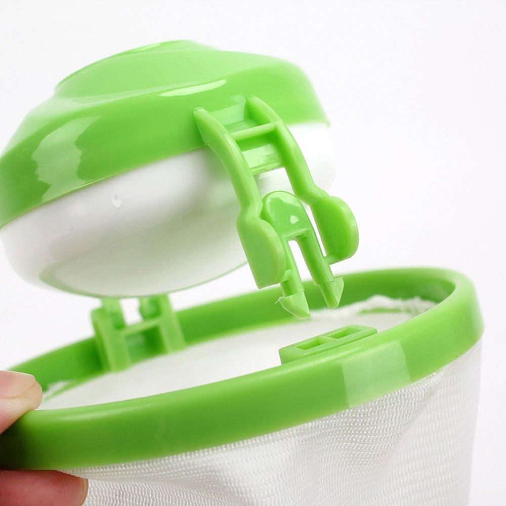 Glumes Household Reusable Washing Machine Floating Lint Mesh Bag Hair Filter Net Pouch 1 Pcs