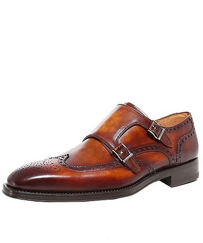cc0d343443c Magnanni Men s Dublin Double Monk Strap Shoes UK 7 Brown  Amazon.co ...